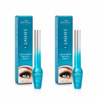 Belle Azul +Lashes Growth Serum - Longer, Thicker, Fuller Lashes & Enhanced Brows with Castor Oil - Conditioning Hair Growth Treatment 7 ml./0.24 fl.oz (Pack of 2)
