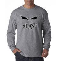 Way 611 - Unisex Long-Sleeve T-Shirt Beast Mode Eyes Grin Workout