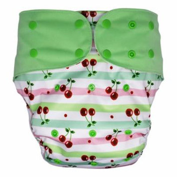 Reusable Cloth Diaper Cover Set for Big Kids, Overnight Special Needs Incontinence (Cherry)