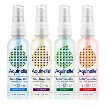 Aquinelle Travel Pack - 4 Scents Ocean Breeze, Island Mist, Rain Forest and Citrus Burst - 3oz Sprays
