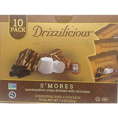Drizzilicious S'Mores Crisp with Chocolate, 10 Count
