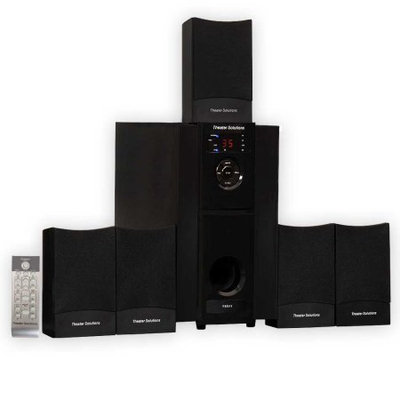 Theater Solutions TS511 5.1 Speaker System - 500 W RMS - Glossy Black - 40 Hz - 20 kHz - Dolby Surround, Surround Sound