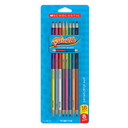 Scholastic Double-Ended Color Pencils, Pack Of 8
