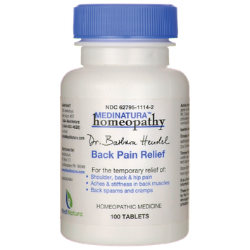 MN HOMEOPATHIC BACK PAIN RELIEF 100 TAB