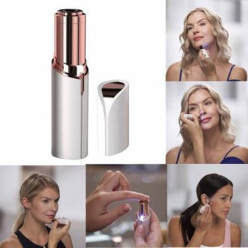 Facial Hair Removal,Free Hair Remover Replacement Head,Portable Facial Electric Travel Hair Removal-Mini Shave Hypoallergenic Shaver Device for Woman Face Chin Lip Body,Battery Not Included(White)
