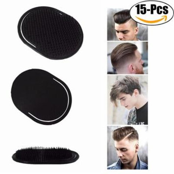 Coxeer Hair Brush Creative Portable Scalp Massage Pocket Brush Shampoo Comb for Men Hair Beard, 15 Pack