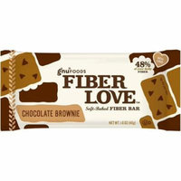 2 Pack - Gnu Foods Fiber Love Soft-Baked Fiber Bar, 1.6 oz Bars, Chocolate Brownie, 16 ea