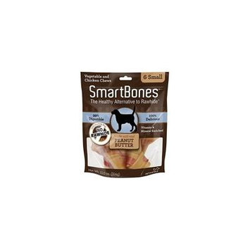 SmartBones Peanut Butter Dog Chews Small - 3.5 Long - Dogs under 20 Lbs (6 Pack) - Pack of 10