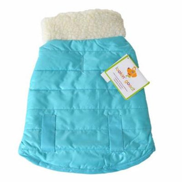 Lookin Good Reversible Puffy Dog Coat - Blue Small - (Fits 10-14 Neck to Tail) - Pack of 2