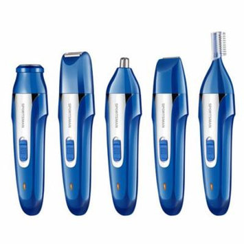 Topboutique Nose Ear & Hair Trimmer for Man, 5 IN 1 USB Waterproof Electric Nose Ear Beard Body Trimmer Sideburns Eyebrow Shaver Facial Hair Grooming Kit,Wet and Dry - Blue