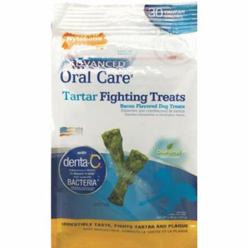 Nylabone Advanded Oral Care Tartar Fighting Dog Treats - Bacon Flavor Mini (30 Pack) - Pack of 10