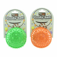 Lot of 2 Petzip Goody Ball Dog Toys Rubber Treat Holder Pet Fun COLORS MAY VARY