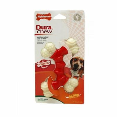 Nylabone Dura Chew Double Bone - Bacon Flavor Wolf - Dogs up to 35 lbs - Pack of 3