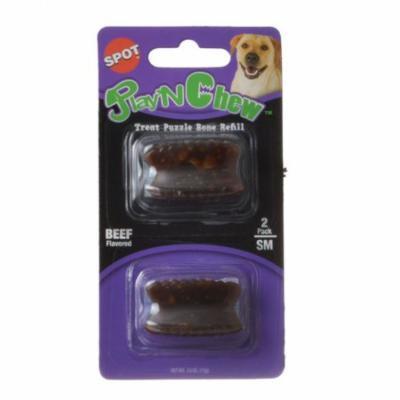 Spot Play'N Chew Nylon Bone Treat Refill Small - 2 Pack - Pack of 6