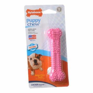 Nylabone Puppy Chew Dental Bone Chew Toy - Pink 3.75 Chew - (For Puppies up to 15 lbs) - Pack of 4