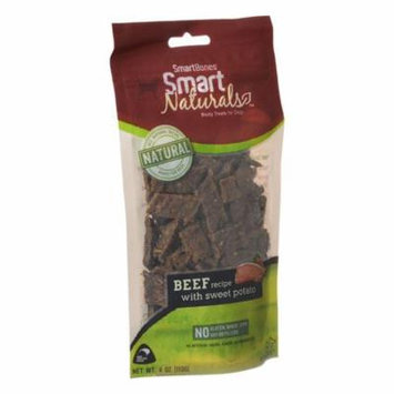 SmartBones Smart Naturals Meaty Treats for Dogs - Beef with Sweet Potato 4 oz - Pack of 3