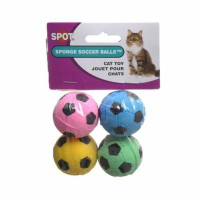 Spot Spotnips Sponge Soccer Balls Cat Toys 4 Pack - Pack of 4
