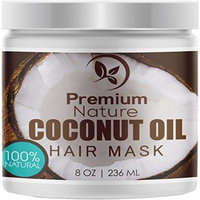 Coconut Oil Hair Mask Conditioner- Deep Conditioning Leave-In Hair Treatment for Dry Damaged Hair Care - Repairs Restores & Nourishes 2.0 Limited Edition Premium Nature 8 Oz