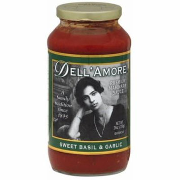 4 Pack - Dell A'more Sweet Basil and Garlic Pasta Sauce 25 oz