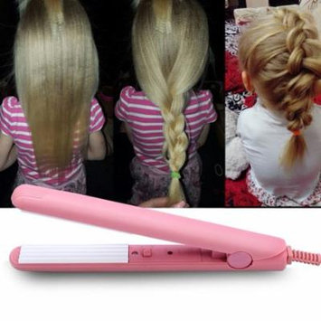 EECOO Mini Hair Straightener Curler,Mini Ceramic Tourmaline Curler Corn Plywood Board Scalding Small Corrugated Multi-function Splint Fluffy Hair Styling Tools