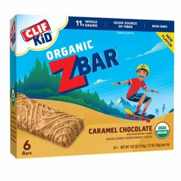Clif Kid ZBAR, Organic Energy Bar, Carmel Chocolate, 1.27 Oz, 6 Ct