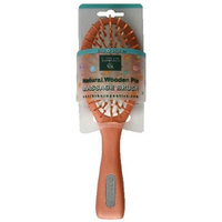 Earth Therapeutics Life + Style Natural Wooden Pin Massage Brush, 1 Brush by Earth Therapeutics