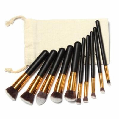Mosunx 10 Pcs Makeup Brushes Set Makeup Brushes Kit Draw String Makeup Bag