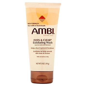 AMBI SKINCARE EVEN & CLEAR EXFOLIATING WASH TUBE 5oz [PACKAGE VARY]