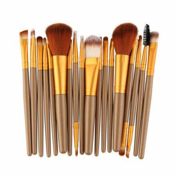 Mosunx 18 pcs Makeup Brush Set tools Make-up Toiletry Kit Wool Make Up Brush Set GD