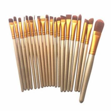 Mosunx 20pcs Makeup Brushes Set Kit Foundation Powder Eyeshadow Eyeliner Lip Brush Tool