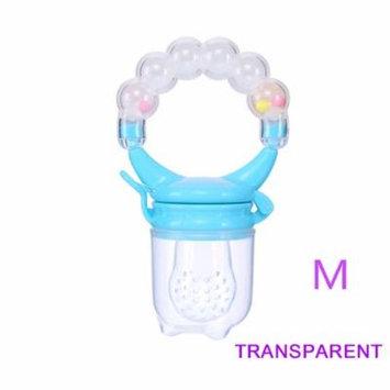 1 Pcs Baby Pacifier Fresh Food Nibbler Fruit Feeder Children Baby Supplies Nipple Pacifier Teat Bottles Nipples Feeder Safe Feeding Crystal M)