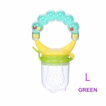 1 Pcs Baby Pacifier Fresh Food Nibbler Fruit Feeder Children Baby Supplies Nipple Pacifier Teat Bottles Nipples Feeder Safe Feeding (Green L)