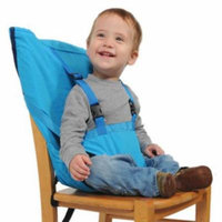 Baby Portable Seat Kids Feeding Chair for Child Infant Safety Belt booster Seat Feeding High Chair Harness Carrier (Sky Blue)