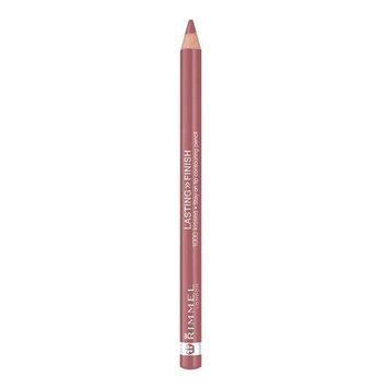 Rimmel Lasting Finish, 1000 Kisses Lip Liner, Mauve Shimmer, 0.04 oz., Long Lasting Bold Lip Liner Pencil, Resists Transferring & Smudging