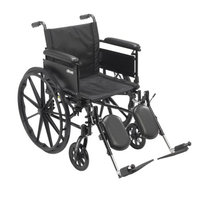 Drive Medical Cruiser X4 Lightweight Dual Axle Wheelchair with Adjustable Detachable Arms, Full Arms, Elevating Leg Rests, 20