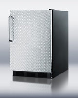 Summit FF6BBIDPLADA 5.5 Cu. Ft. Stainless Look Undercounter Built-In Compact Refrigerator