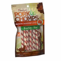 Pork Chomps Twistz Pork Chews - Pepperoni Flavor Mini Twists - 30 Count - Pack of 2