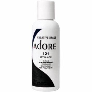 4 Pack - Creative Images Systems Adore Semi Permanent Hair Colour Jet Black [121] 4 oz
