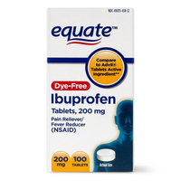 Wal-mart Stores, Inc. Equate Dye-Free Ibuprofen Tablets, 200 mg, 100 count