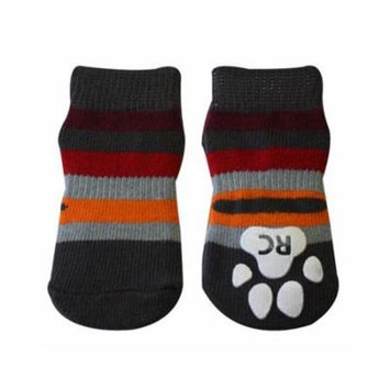 Gray Stripes PAWks Dog Socks - Large