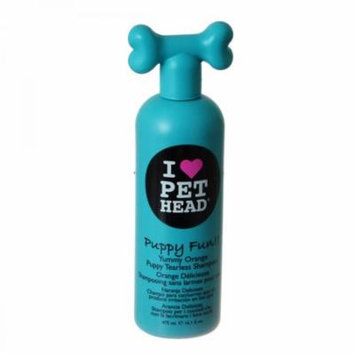 Pet Head Puppy Fun Puppy Tearless Shampoo - Yummy Orange 16.1 oz (475 ml) - Pack of 4
