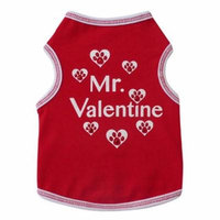 Mr. Valentine Dog Tank - Red - Medium