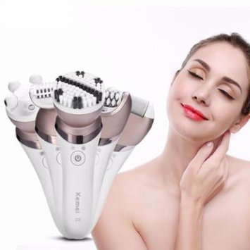 5 in 1 Women Electric Hair Removal Shaver Defeatherer Hair Epilator Facial Massager Callus Removal Facial Cleaner Brush Set,Wet & dry