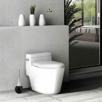 Yosoo Creative Bathroom Toilet Scrub Cleaning Brush Holder Set with Stainless Steel Base , Toilet Cleaning Brush,Toilet Brush