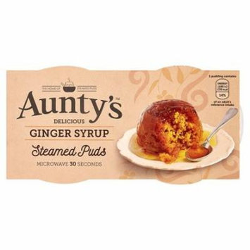 Auntys Ginger Syrup Steamed Pudding Pots 2x95g (Pack of 3)