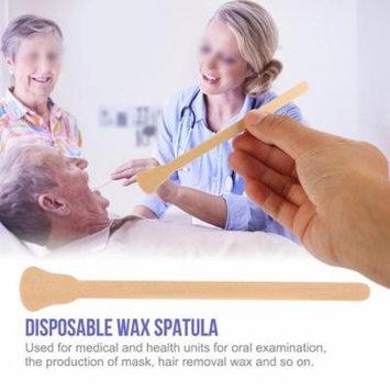 Yosoo 100pcs Wooden Wax Spatula Tongue Depressor Disposable Facial Mask Hair Remove Cream Applicator, Wax Stick, Wax Spatulas