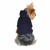 Dog Sweaters Pet Dog Puppy Clothes Ultra Soft Warm Sweatshirt Hoodies Jacket Coat Clothing Apparel Plain Pattern Blue - Small