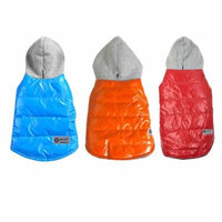 3 Colors Winter Dog Coat Shine Thickening Hoody Jacket Warm Coat Dogs Clothes With Cap Two Legs Pet Costume