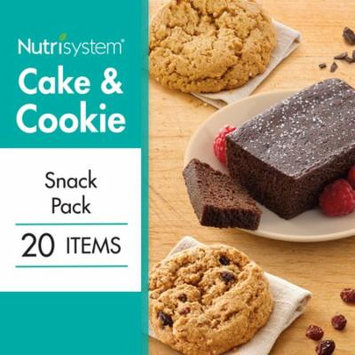 Nutrisystem Cake and Cookie Snack Variety Pack 20CT