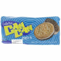 Can Can Vanilla & Chocolate Cookie Sandwiches 12 Pack - Galletas (Pack of 1)
